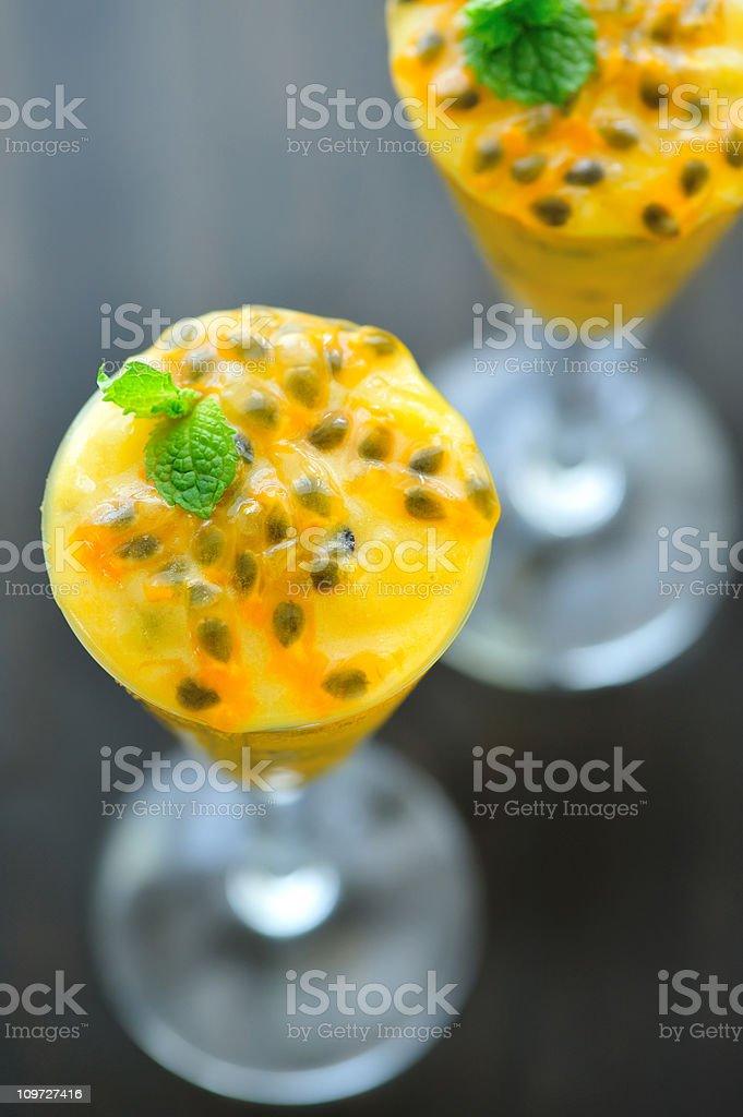 Passionfruit Dessert stock photo