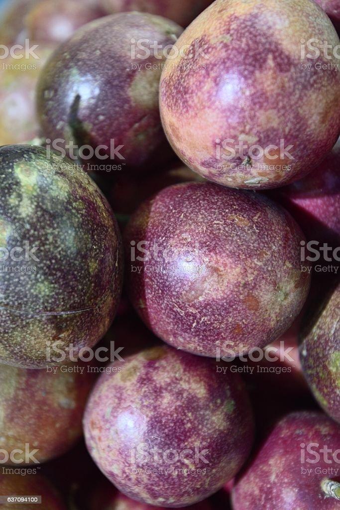 passionfruit(Passiflora edulia Sims) stock photo
