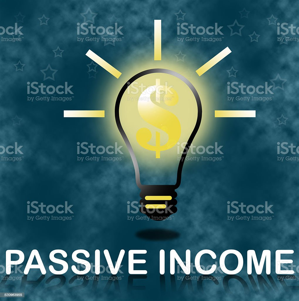 Passive income business concept. stock photo