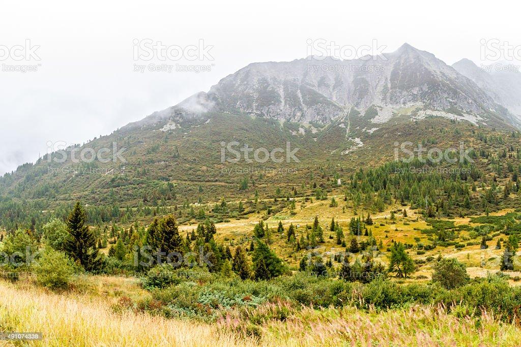 Passo del Tonale, Italian Alps stock photo