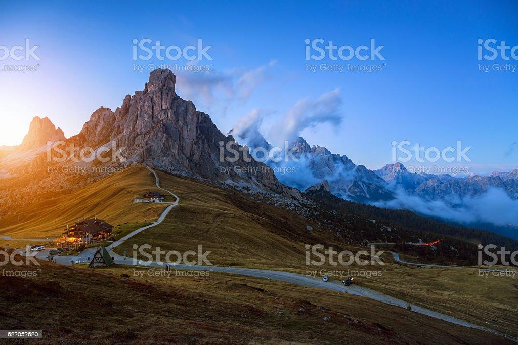 Passo Giau - Dolomites - Italy stock photo