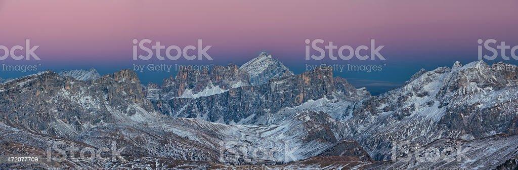 Passo Giau Panorama stock photo