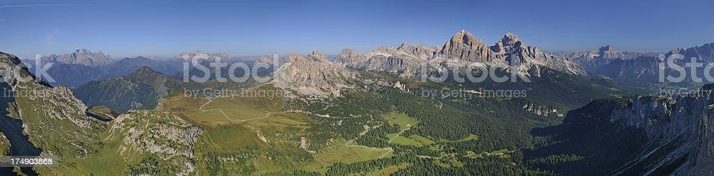 Passo Giau (Dolomites - Italy) royalty-free stock photo