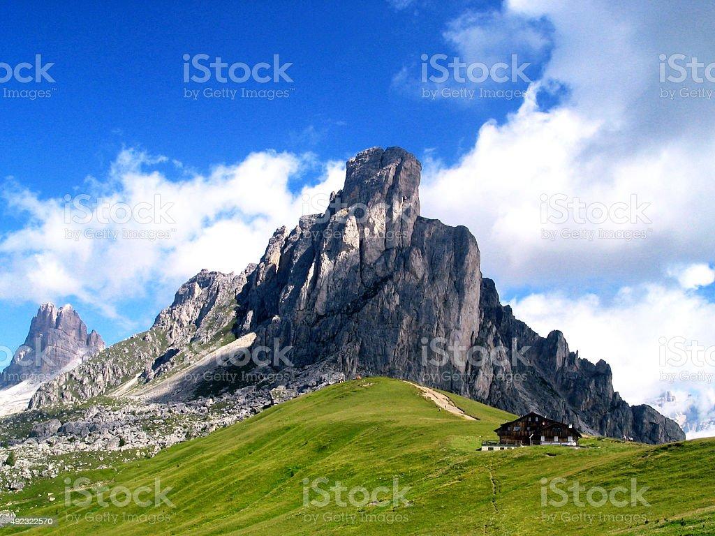 Passo Giau-Italy,Dolomites stock photo