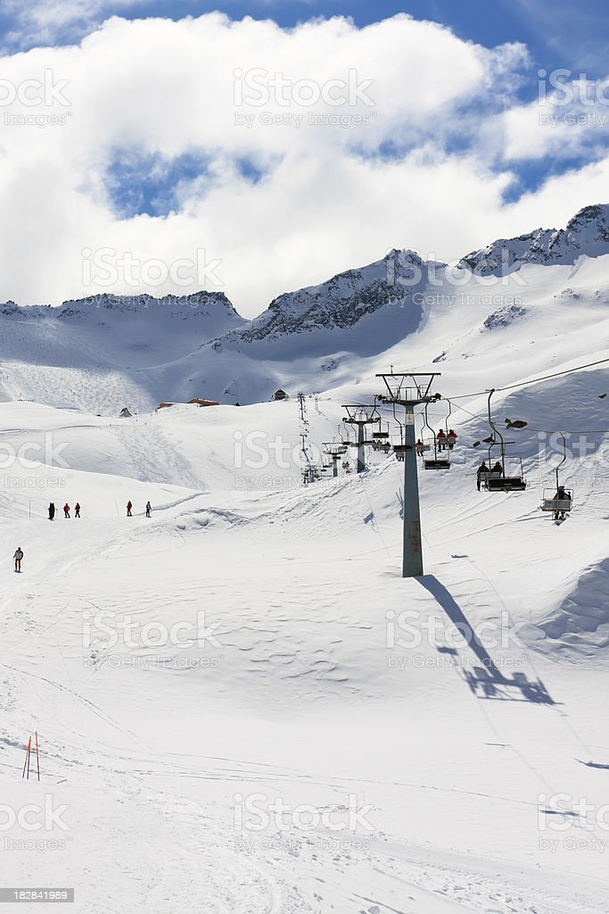 Passo Tonale in Winter royalty-free stock photo