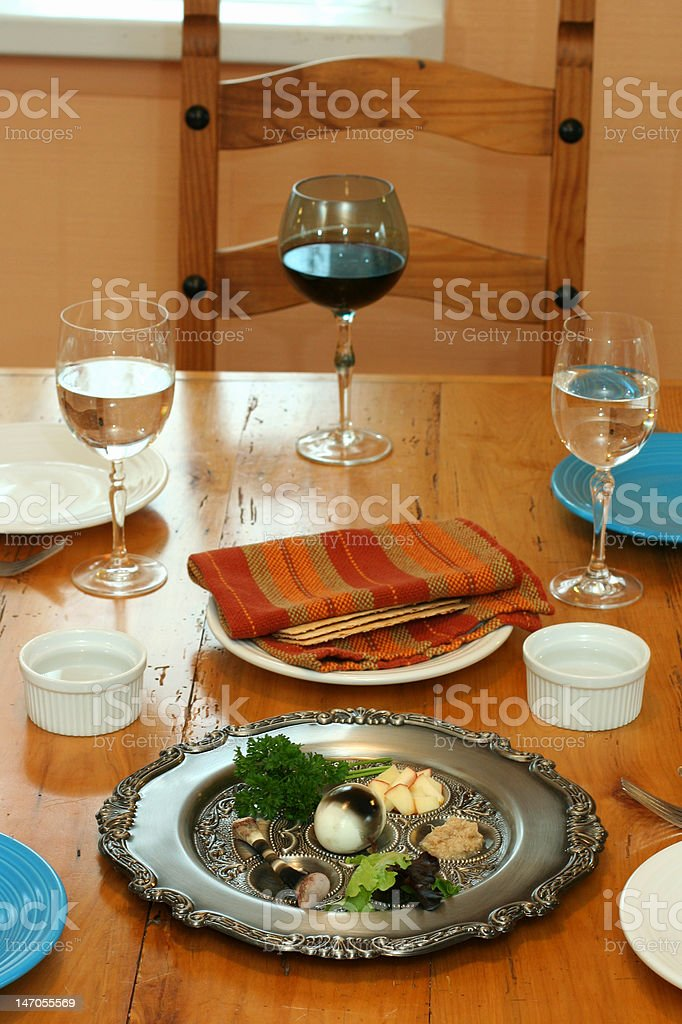Passover Dinner royalty-free stock photo