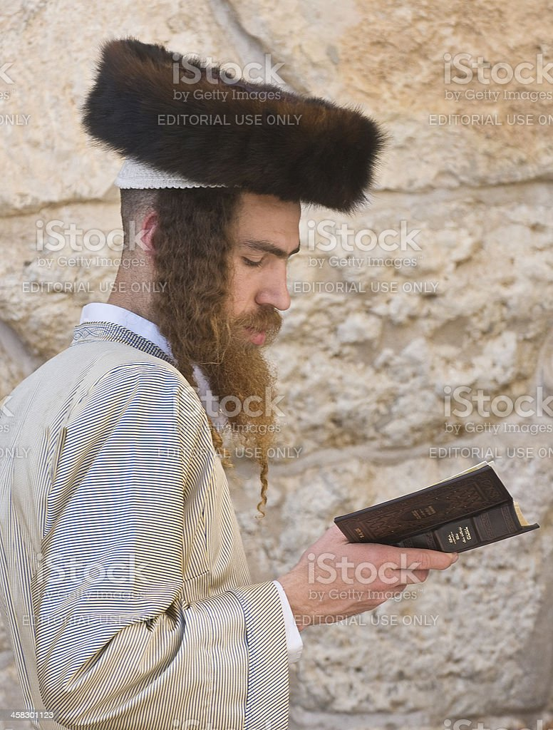 Passover in the Western wall royalty-free stock photo