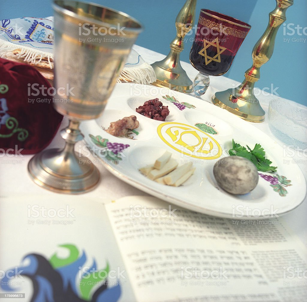 Passover Jewish Easter meal stock photo