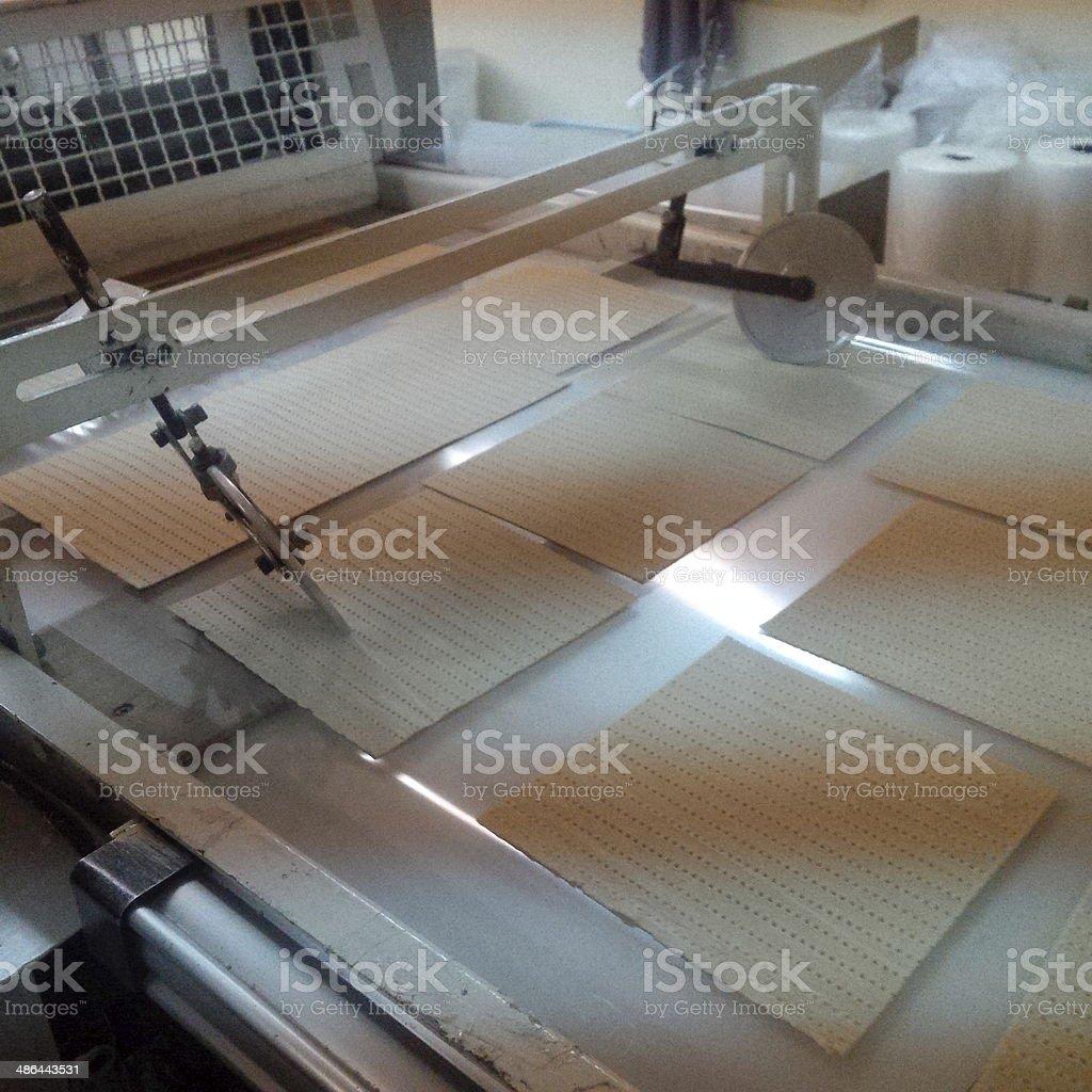 passover matzo production royalty-free stock photo