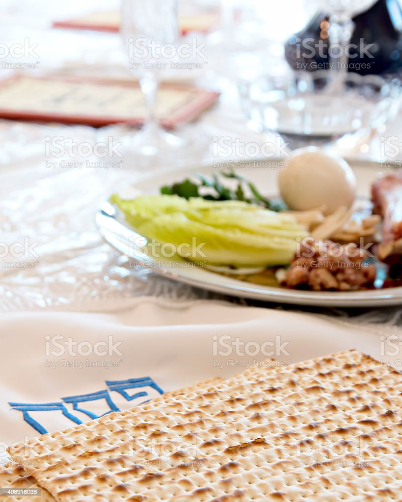 Passover matzoh stock photo