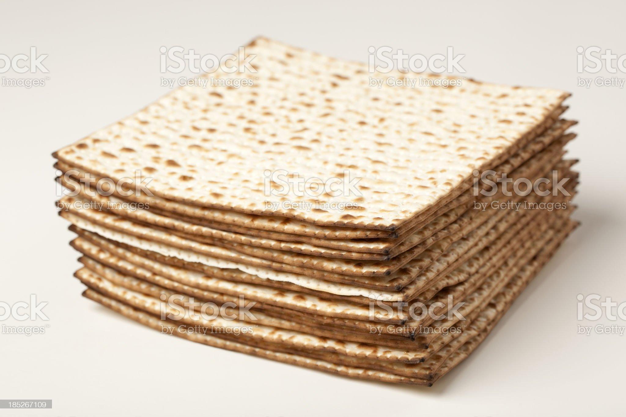 Passover matzos. royalty-free stock photo