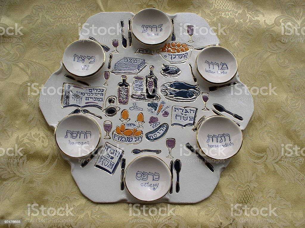 Passover Plate royalty-free stock photo