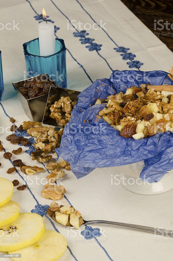 Passover seder food royalty-free stock photo