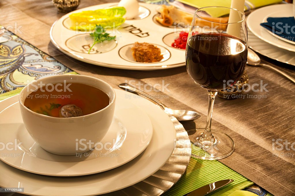 Passover Table Setting stock photo