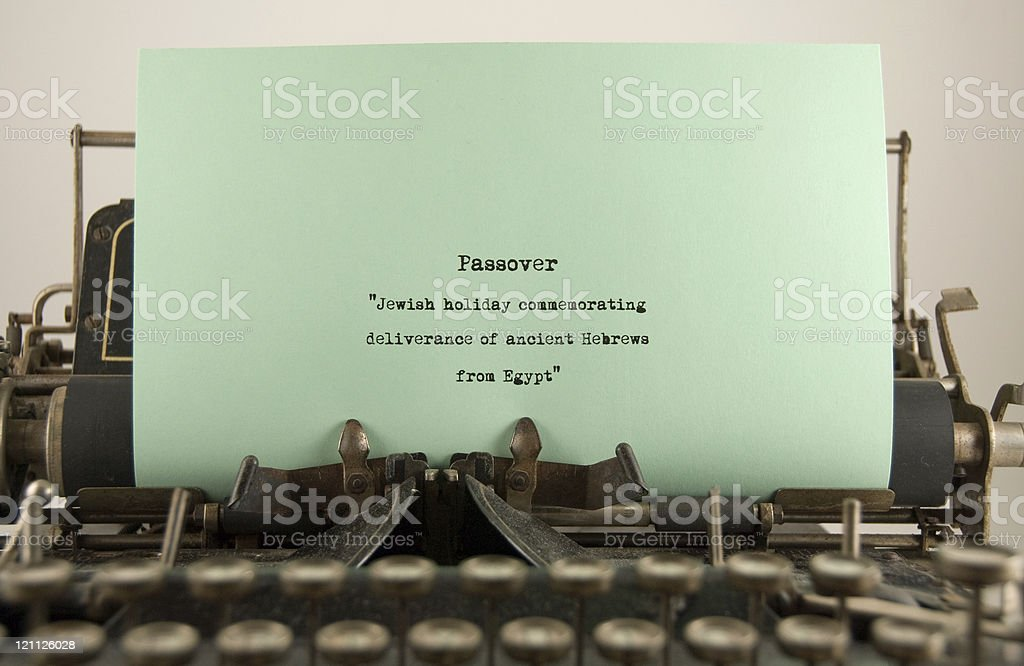 Passover...a definition. stock photo