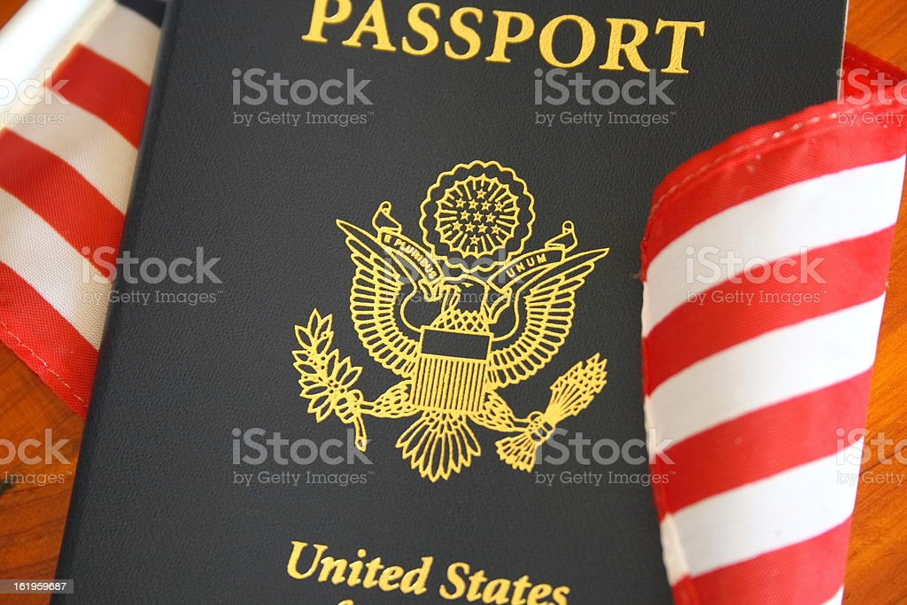 Passport and flag royalty-free stock photo