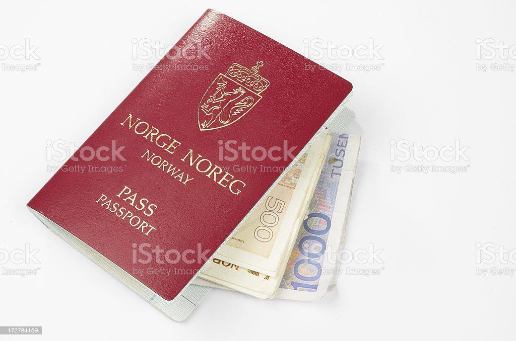 Passport and money royalty-free stock photo