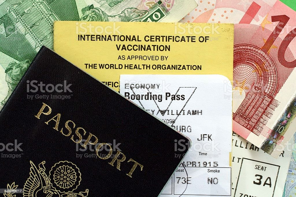 Passport and Travel Documents royalty-free stock photo