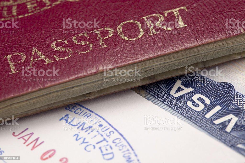 passport and visa stock photo