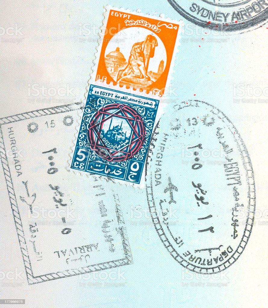 Passport Background stock photo