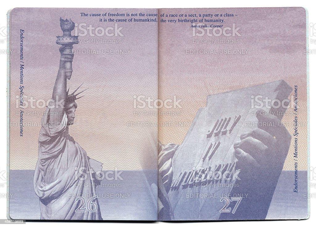 USA Passport Blank Page stock photo