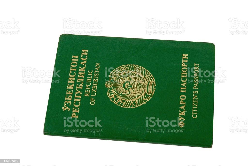 Passport citizen the Republic of Uzbekistan royalty-free stock photo