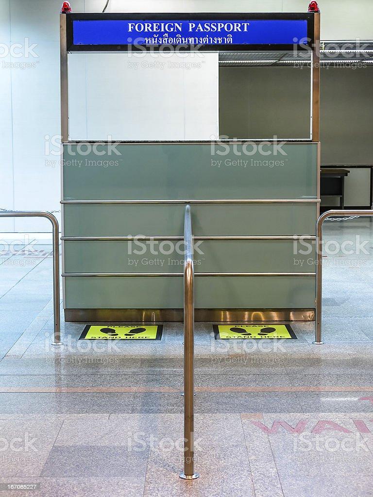 Passport Control Desk royalty-free stock photo