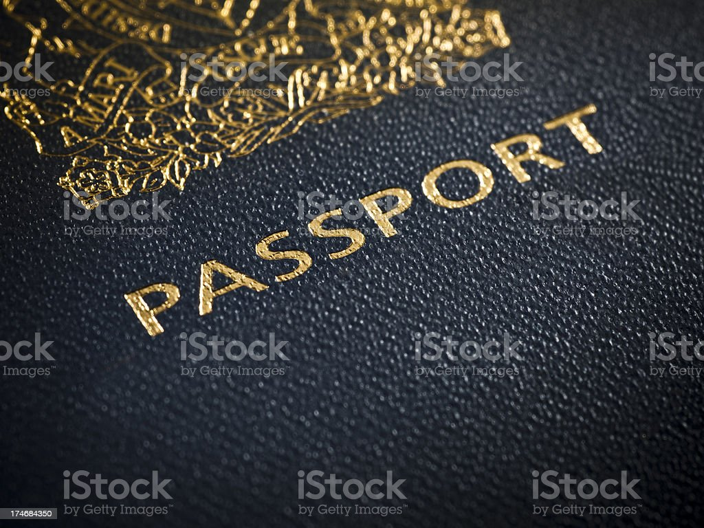 Passport for entry royalty-free stock photo