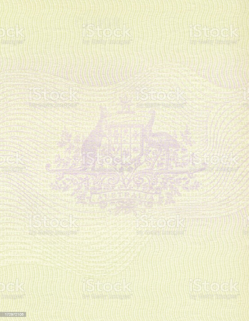Passport graphic with many intricate lines stock photo