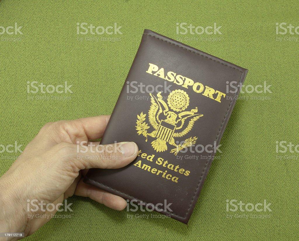 Passport In Hand royalty-free stock photo