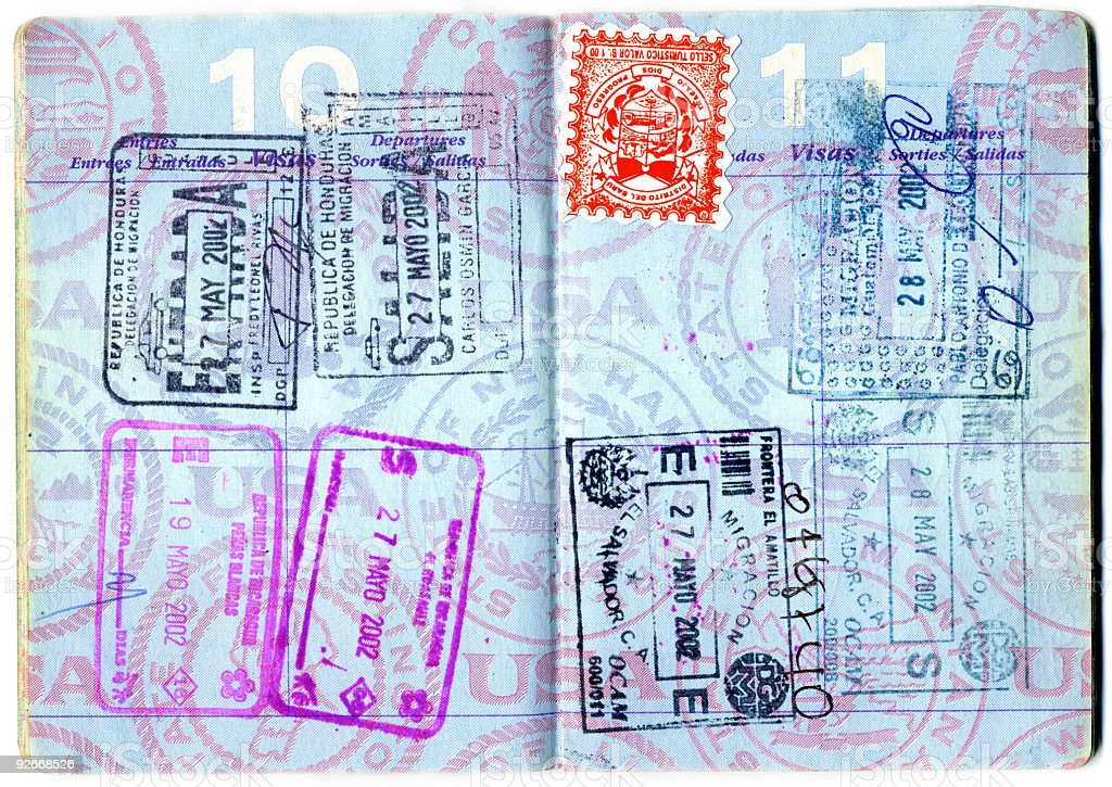 Passport Isolated XXXL stock photo