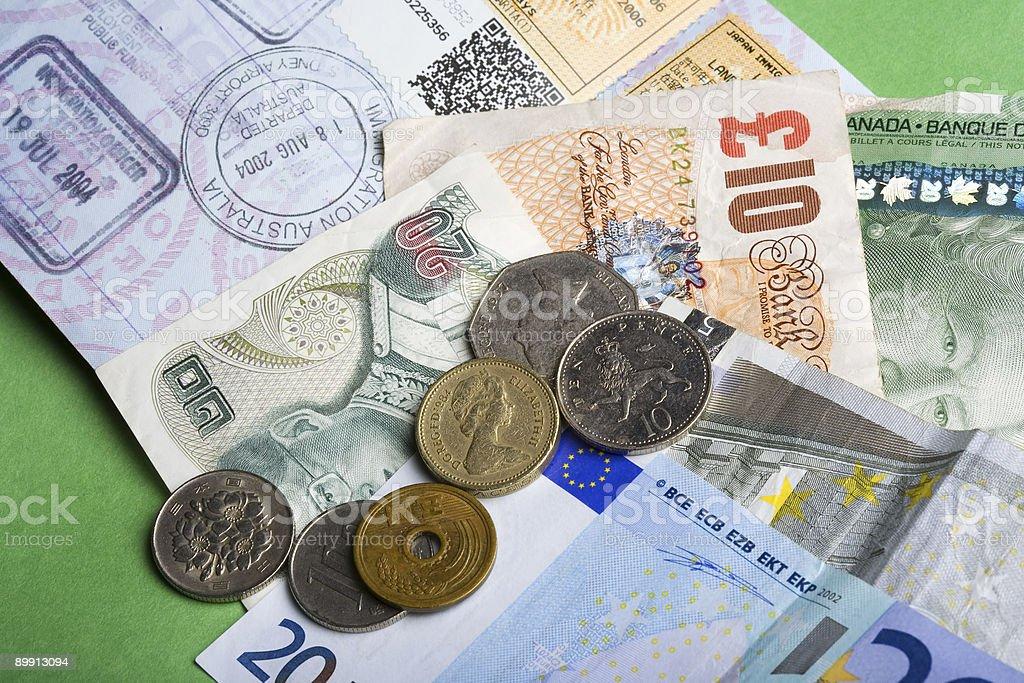Passport & money of the world royalty-free stock photo