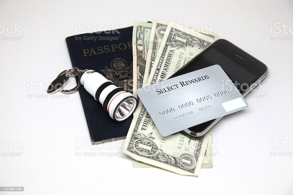 Passport Money royalty-free stock photo