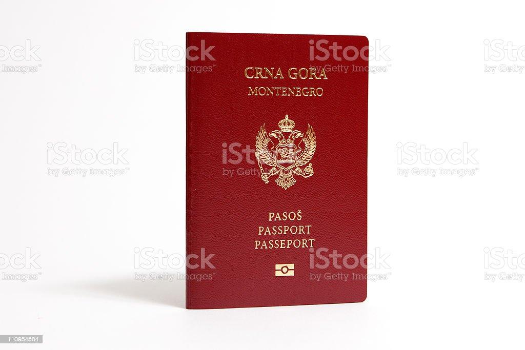 Passport - Montenegro stock photo