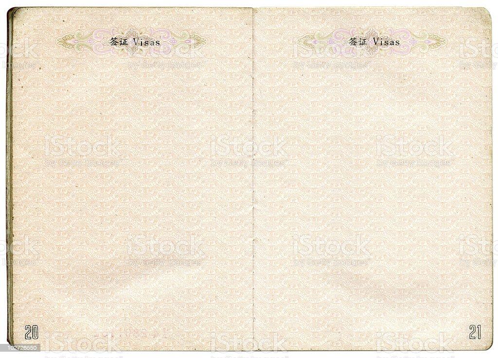 Passport of China stock photo