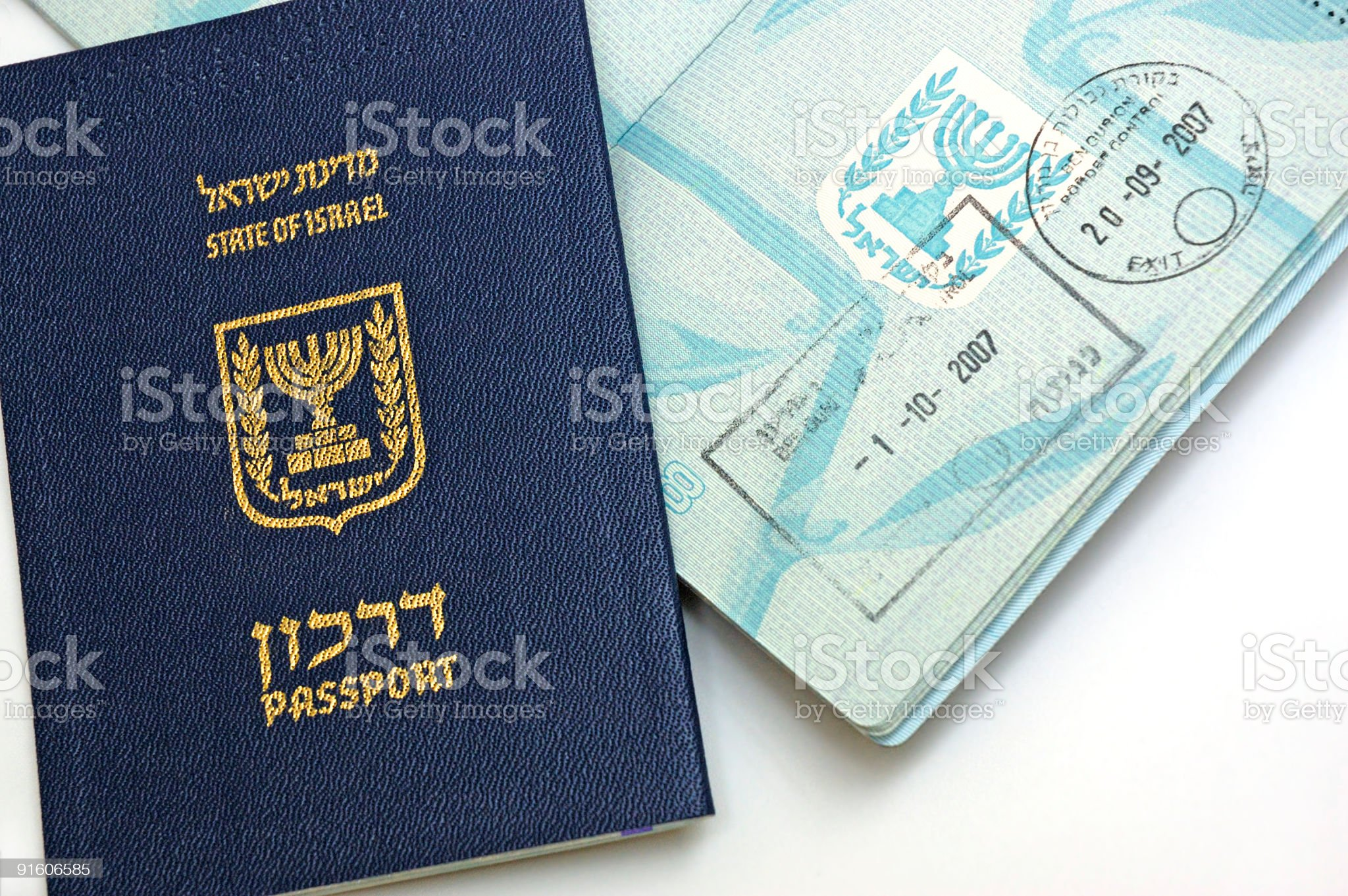 Passport of  Israel citizen royalty-free stock photo