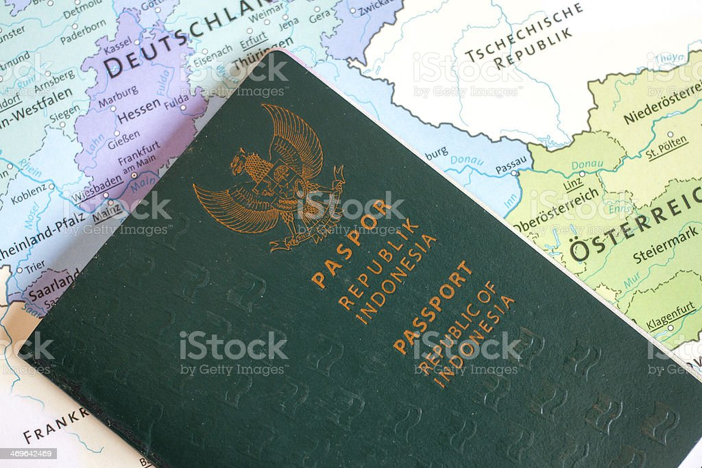 Passport Of Republic Of Indonesia stock photo