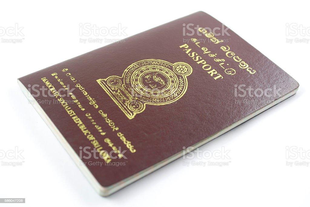 Passport of Sri Lanka stock photo