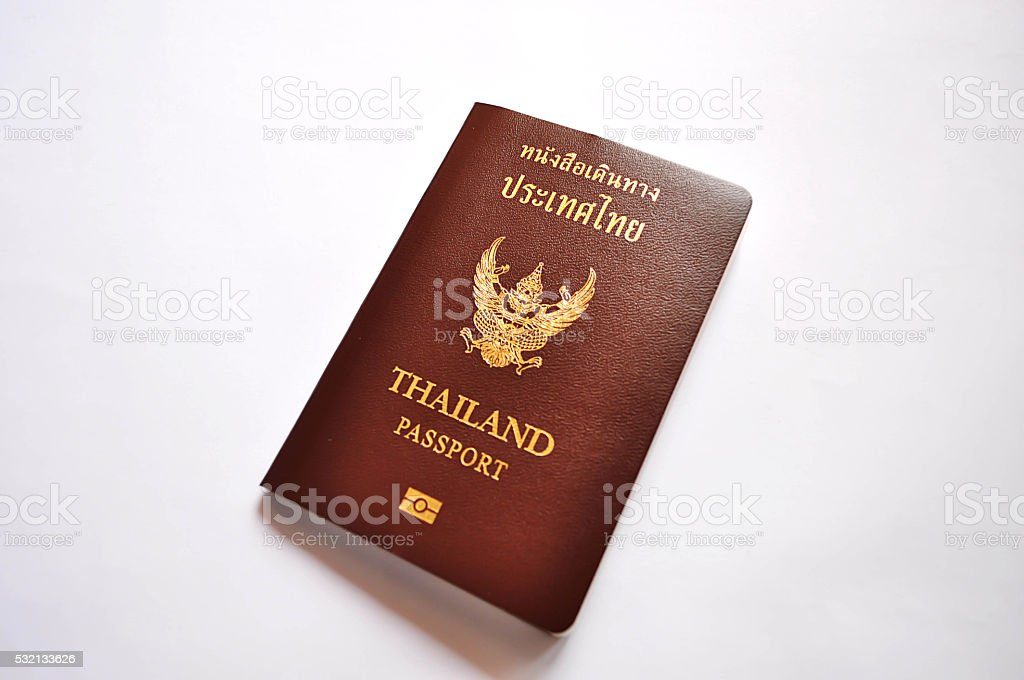 Passport of Thailand-1 stock photo