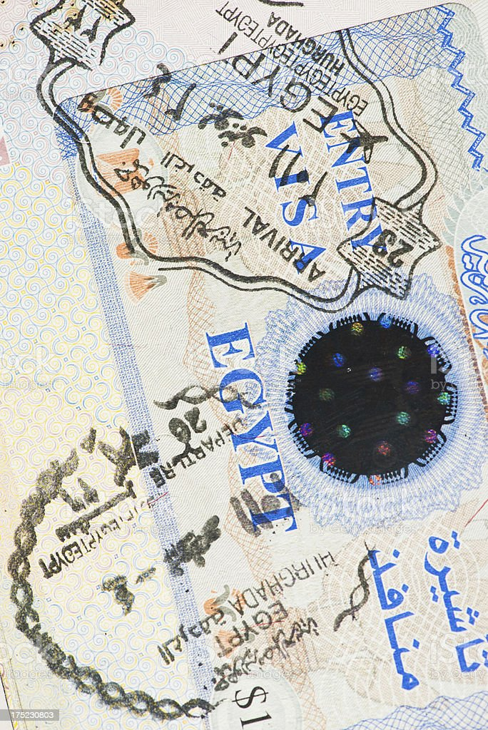 Passport page stock photo