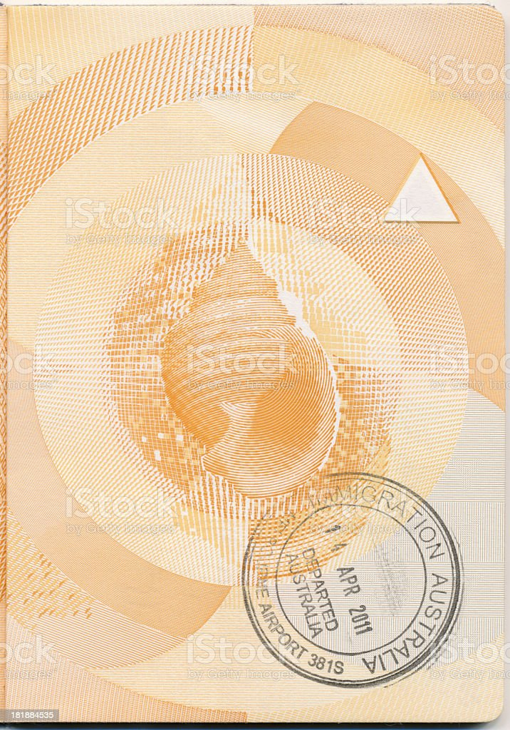 Passport Page royalty-free stock photo