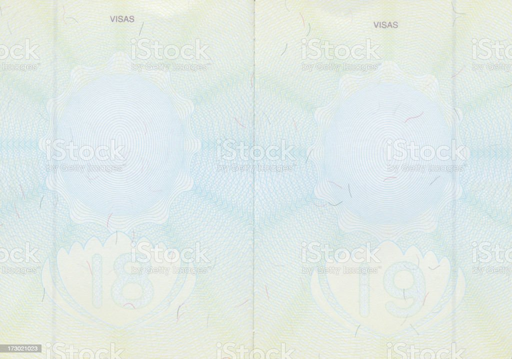 Passport Pages royalty-free stock photo