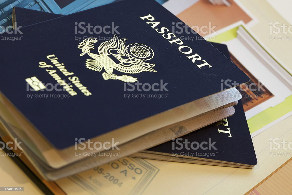 Passaporto libro fotografico foto stock royalty-free