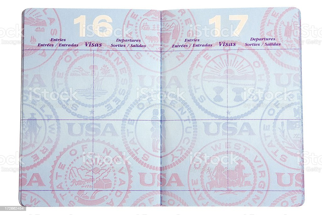 Passport stock photo