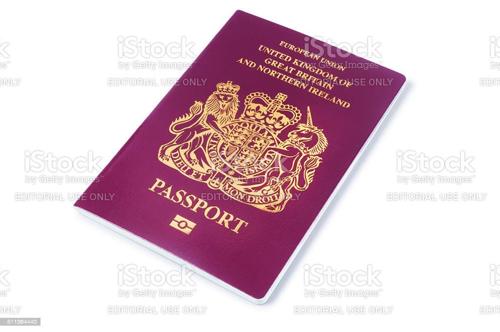 UK Passport stock photo