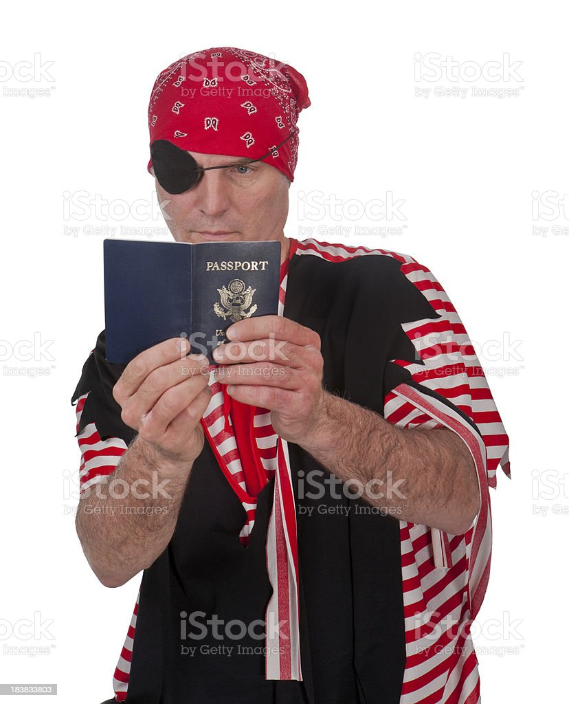 passport pirate royalty-free stock photo