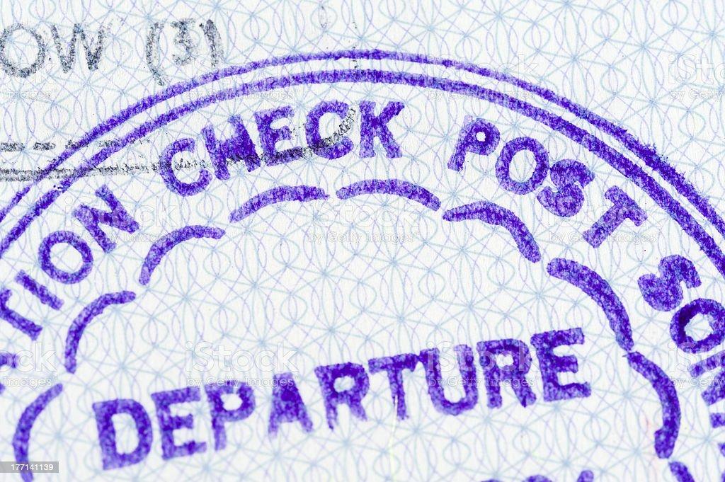 Passport stamp: Departure royalty-free stock photo