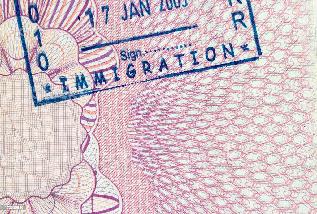 Passport stamp royalty-free stock photo