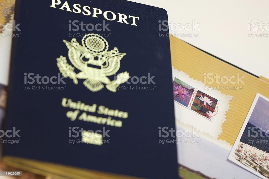 Francobolli di passaporto foto stock royalty-free