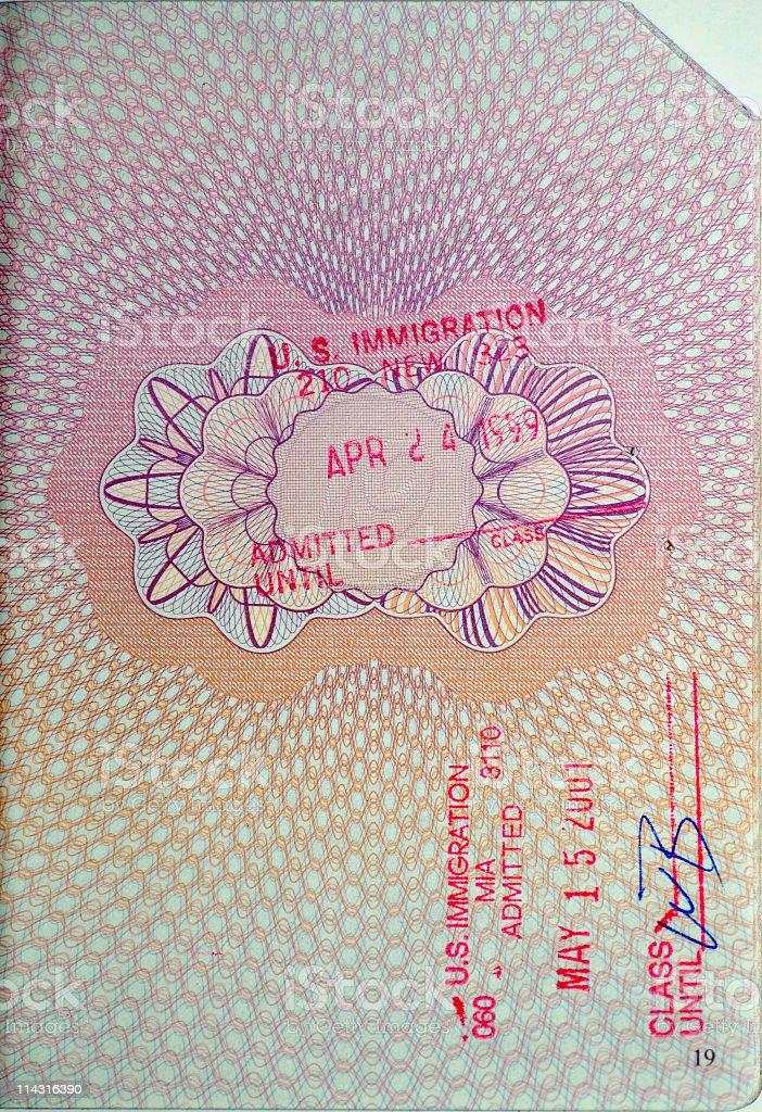 Passport Stamps - USA royalty-free stock photo